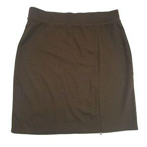 New York & Company Skirts - New York & Company Brown Skirt w Adjustable Slit